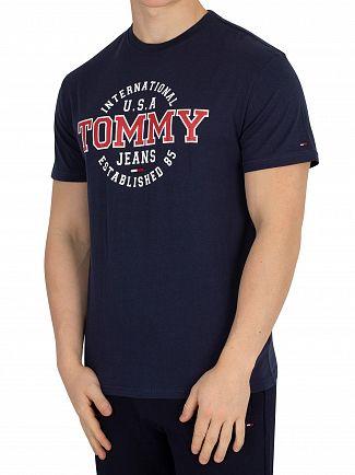 Tommy Jeans Black Iris Circular T-Shirt
