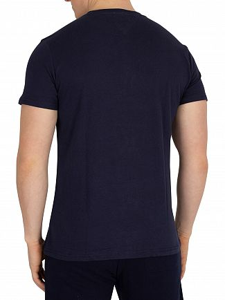 Tommy Jeans Black Iris Navy Essential Logo T-Shirt