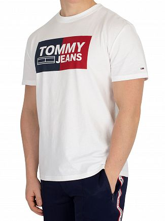 Tommy Jeans Classic White Essential Split Box T-Shirt
