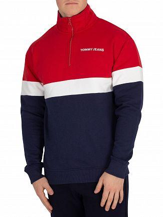 Tommy Jeans Samba/Black Iris Retro Mock Neck Sweatshirt