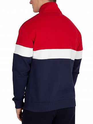Tommy Jeans Samba/Black Iris Navy Retro Mock Neck Sweatshirt