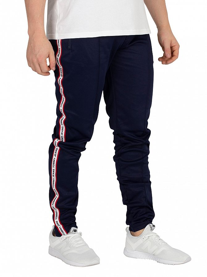Tommy Jeans Black Iris Navy Track Joggers