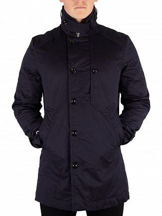 G-Star Mazarine Blue Garber Padded Trench Coat