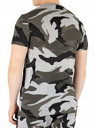 G-Star Grey Heather Graphic 2 Camo T-Shirt