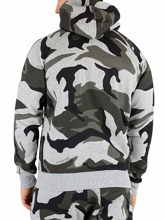 G-Star Grey Heather Graphic DSP2 Camo Zip Hoodie
