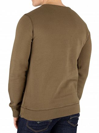 Scotch & Soda Military Green Ams Blauw Graphic Sweatshirt