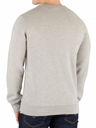 Scotch & Soda Grey Melange Ams Blauw Graphic Sweatshirt