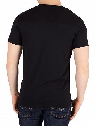 Scotch & Soda Black Ams Blauw Graphic T-Shirt