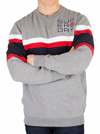 Superdry Varsity Silver Grit Applique Weekend Cut & Sew Sweatshirt