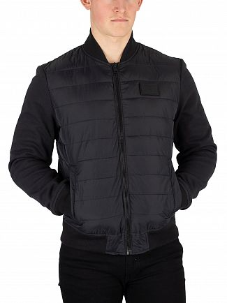 Tommy Hilfiger Jet Black Inside Stripe Rib Quilted Jacket