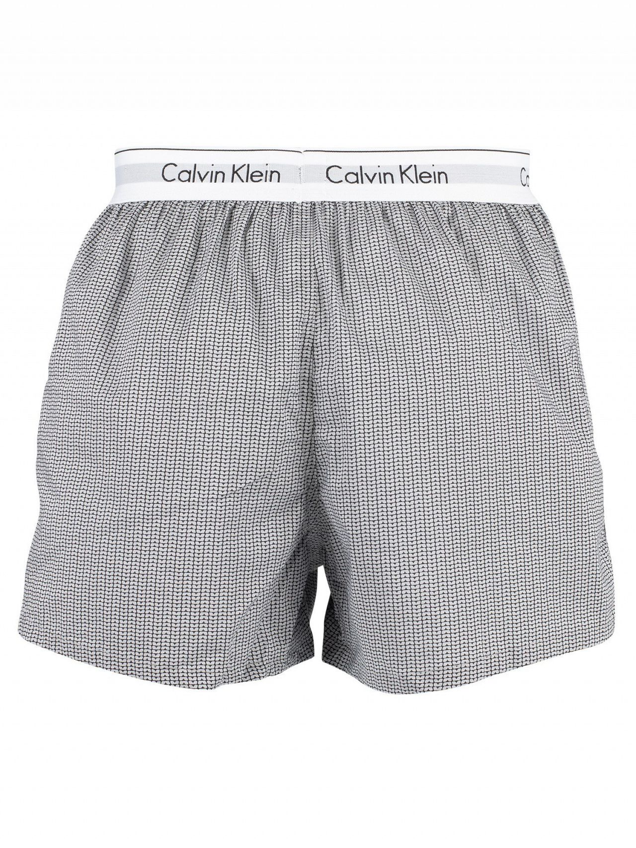 a18b81d2 Calvin Klein Stan Plaid/Grey 2 Pack Modern Cotton Stretch Woven Trunks