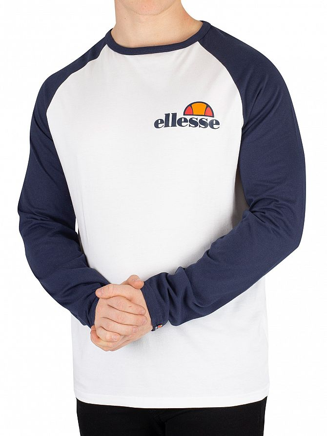 Ellesse Optic White/Dress Blues Thero Longsleeved T-Shirt