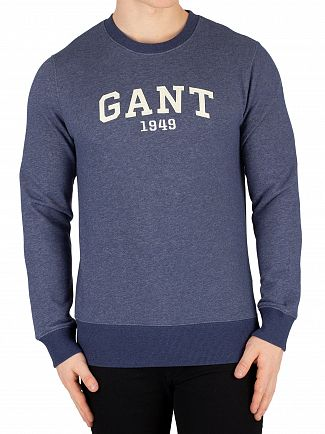 Gant Marine Melange 1949 Arch Logo Sweatshirt