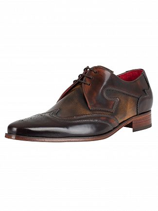 Jeffery West Brown Mix/Polish Leather Yardbird Shoes