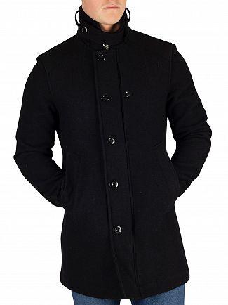 G-Star Mazarine Blue Garber Wool Trench Coat