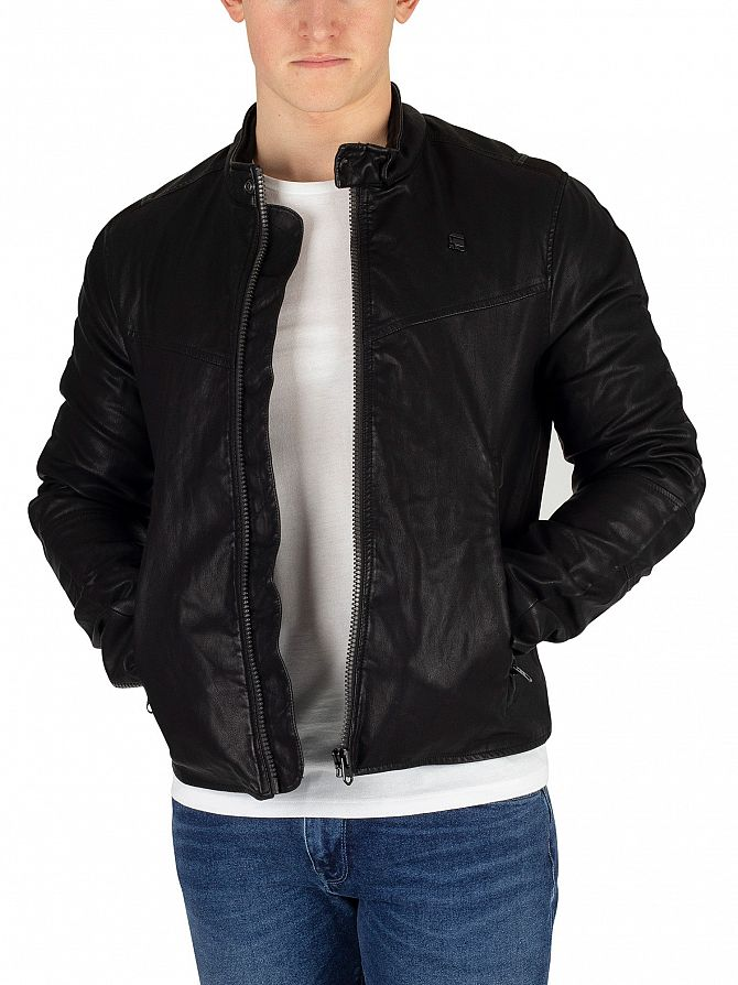 G-Star Dark Black Motac DC Biker Jacket