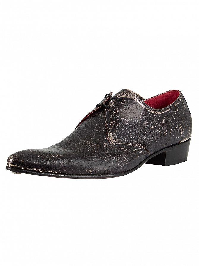 Jeffery West Silver Break Metal Leather Shoes