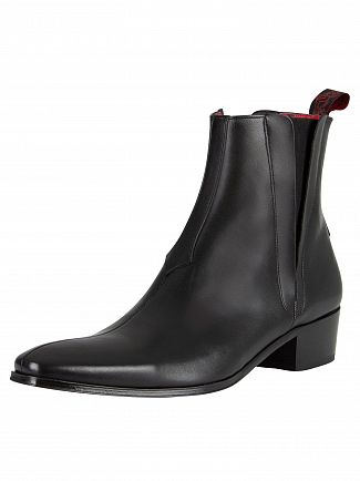 Jeffery West Black Carlito Leather Boots