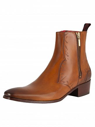 Jeffery West Tan Carlito Leather Boots