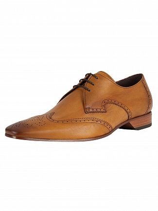 Jeffery West Tan Escobar Leather Shoes