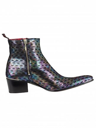 Jeffery West Silver Geoda Leather Boots
