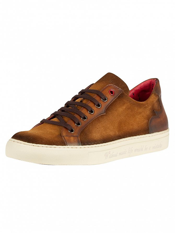 Jeffery West Honey/Castano Leather Velour Trainers