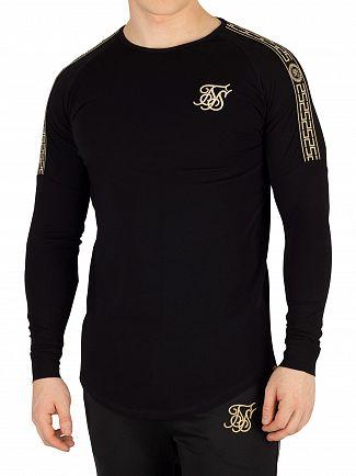 Sik Silk Black Cartel Longsleeved Gym T-Shirt
