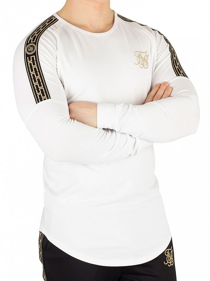 Sik Silk White Longsleeved Gym T-Shirt