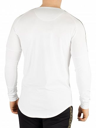Sik Silk White Longsleeved Gym T-Shirt