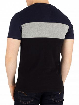 Superdry Highland Navy Applique Colour Block T-Shirt