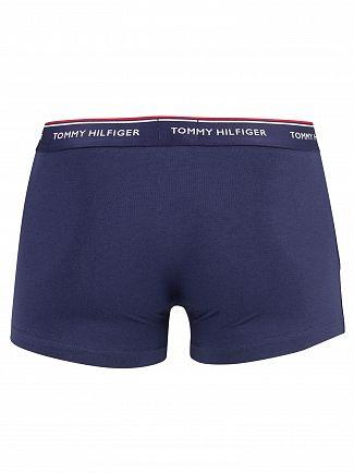 Tommy Hilfiger Deep Claret/Blue/Peacoat 3 Pack Premium Essentials Trunks