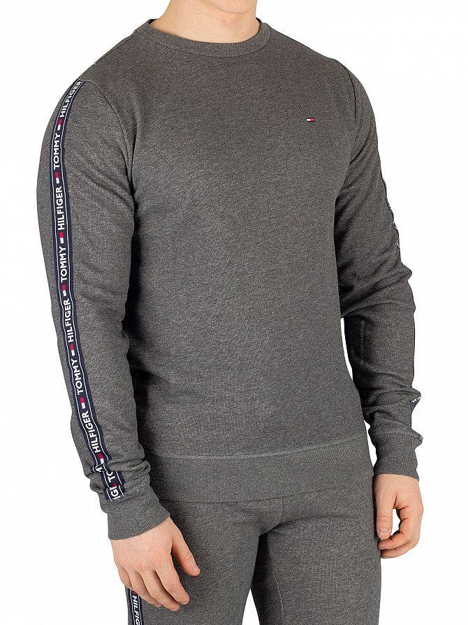 Tommy Hilfiger Dark Grey Heather Track Tapered Sweatshirt