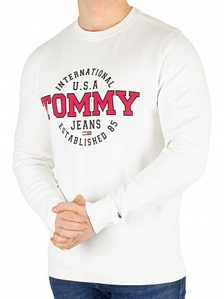 Tommy Jeans Classic White Circular Graphic Regular Sweatshirt