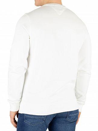Tommy Jeans Classic White Circular Graphic Regular Sweatshirt