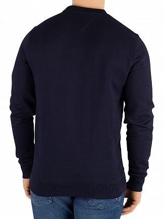 Tommy Jeans Black Iris Navy Circular Graphic Regular Sweatshirt