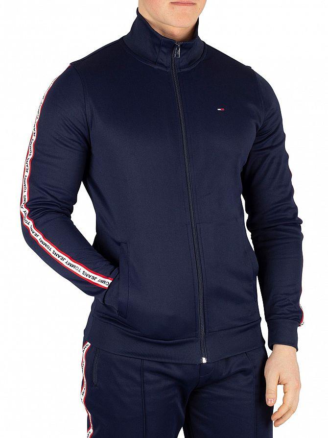 Tommy Jeans Black Iris Navy Track Regular Jacket
