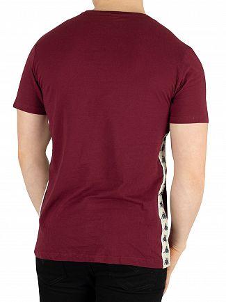 Kappa Red Dark Damson/Beige Banda Bzaiki T-Shirt
