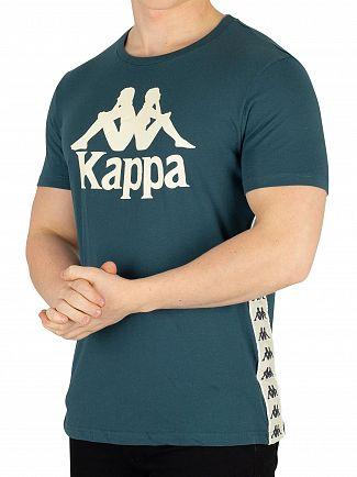 Kappa Blue Dark Petrol/Beige Banda Bzaiki T-Shirt