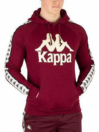 Kappa Red Dark Damson/Beige Hurtado Banda Pullover Hoodie