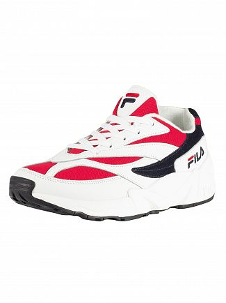 Fila White/Navy/Red 94 Low Trainers