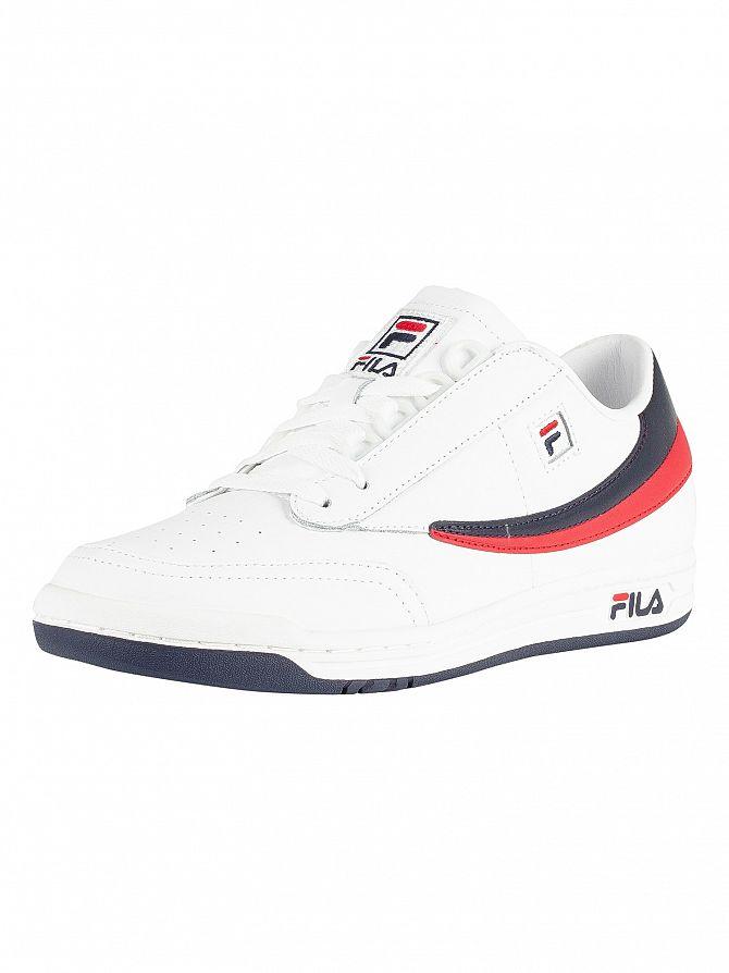 Fila Vintage White/Navy/Red Original Tennis Trainers