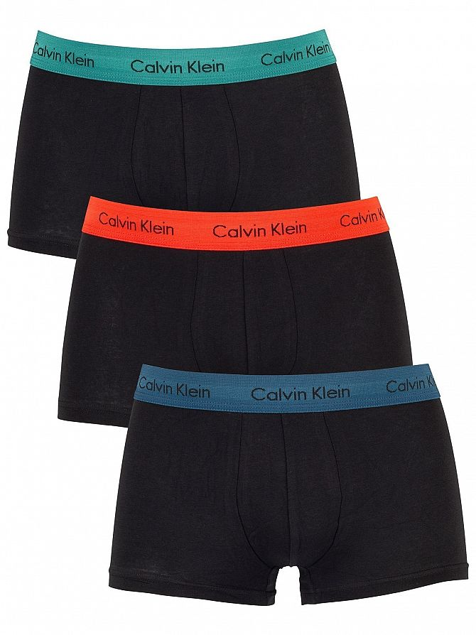 Calvin Klein Blue/Red/Raleigh 3 Pack Low Rise Trunks