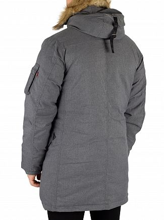 Levi's Grey Heather Down Davidson Parka Jacket