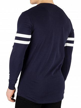 Sik Silk Navy Longsleeved Tournament T-Shirt