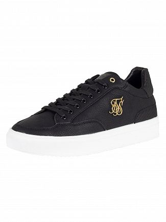 Sik Silk Black Phantom Anaconda Leather Trainers