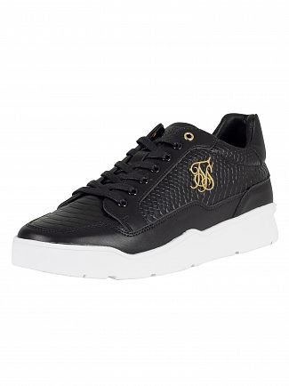Sik Silk Black Pursuit Leather Trainers