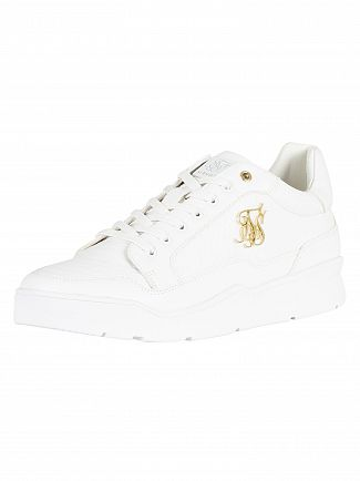 Sik Silk White Pursuit Leather Trainers