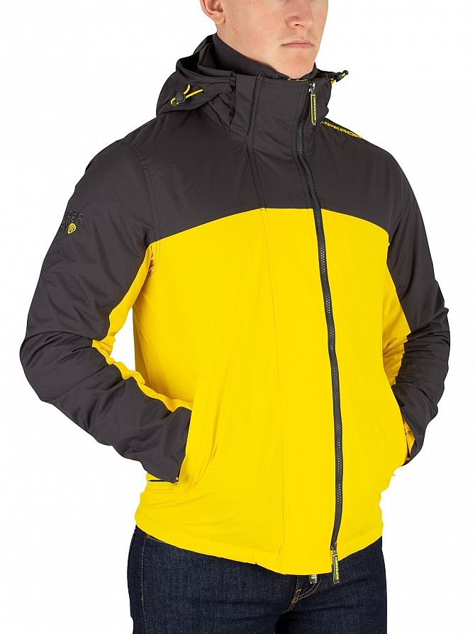 Superdry Dark Grey/Sun Yellow Arctic Exon Windcheater Jacket