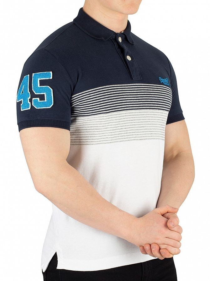 Superdry Highland Navy Classic Lakeside Jersey Poloshirt