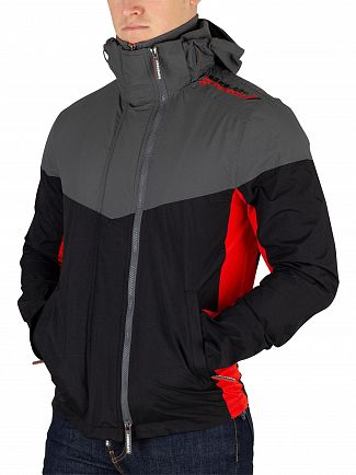 Superdry Game Grey/Black/Orange Tech Axis Pop Windcheater Jacket